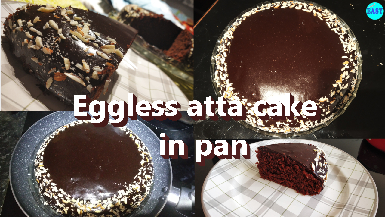 Eggless Chocolate Cake without cocoa powder | Easy chocolate cake | Atta chocolate cake recipe