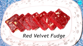 Red Velvet Fudge | Easy Beetroot Burfi