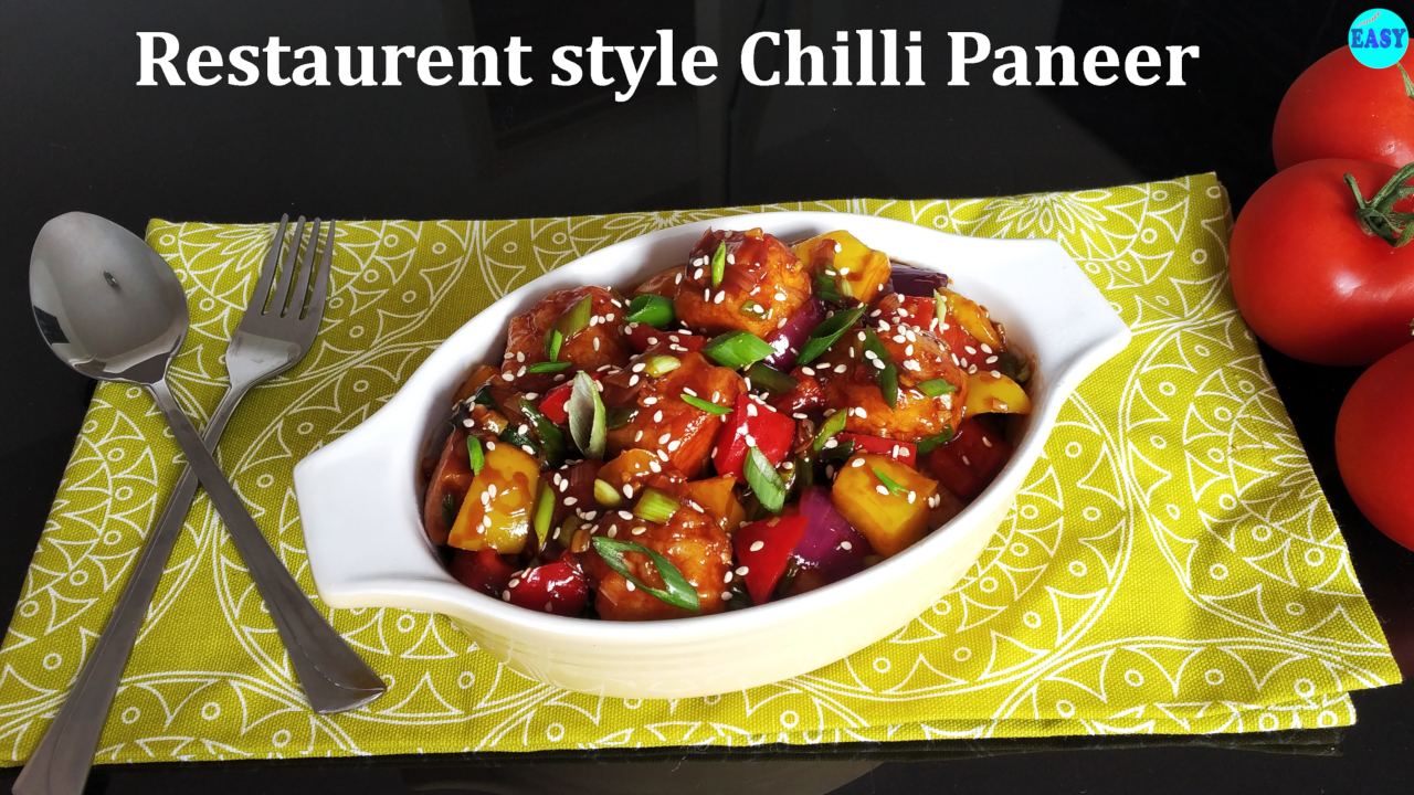 Restaurant style chilli paneer recipe | Easy chilli paneer recipe
